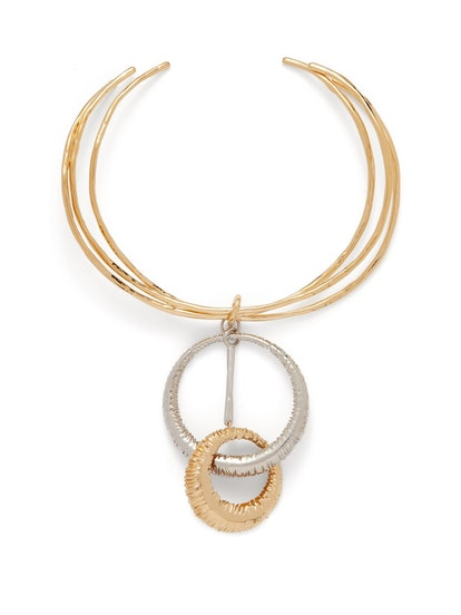 Eclipse Two-Tone Ring Necklace