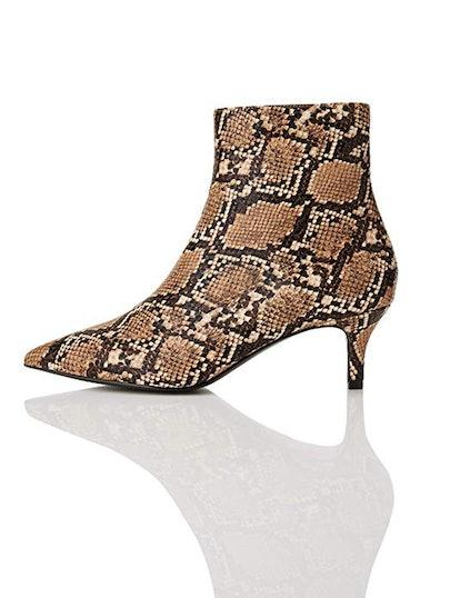 find. Kitten Heel Animal Print Ankle Boots