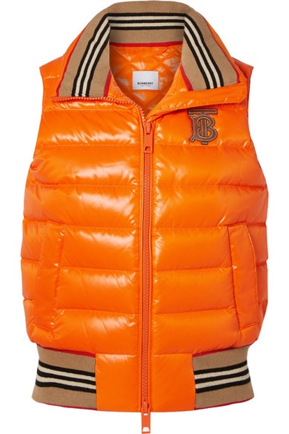 Appliquéd Quilted Shell Down Vest
