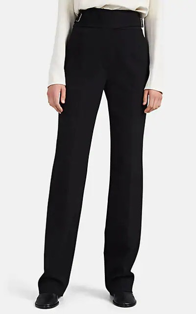 Miguel Belted Wool Straight-Leg Trousers