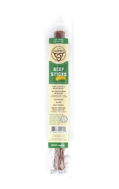 Mission Meats Grass Fed Beef Sticks