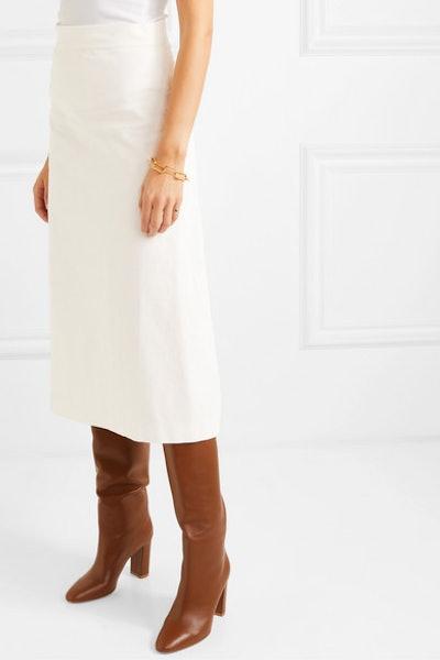 Alma Cotton-Corduroy Midi Skirt