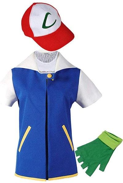 Adult Cosplay Costume Jacket Gloves Hat Set Trainer Halloween Hoodie
