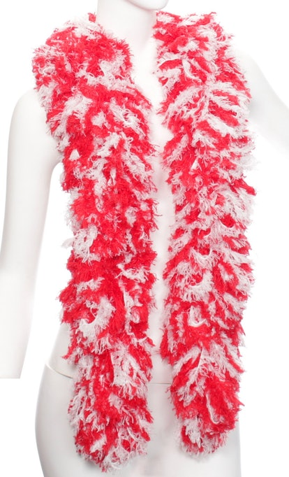 Super-sized Featherless Boa — Red and White