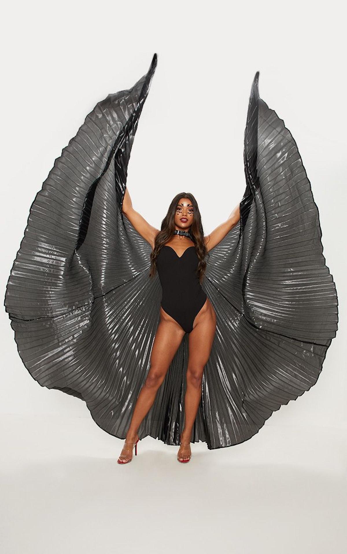 Black Iridescent Statement Wings