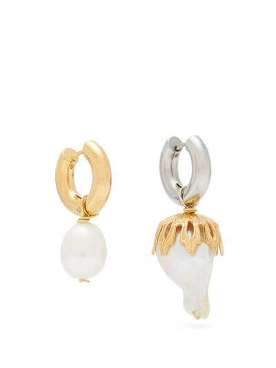 Mismatched Baroque Pearl Drop Earrings