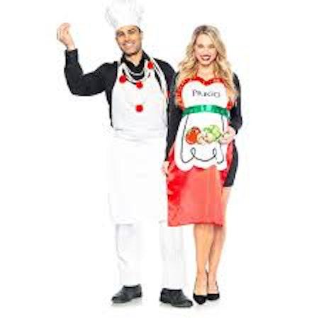 Pasta Chef & Prego Couples Maternity Costumes