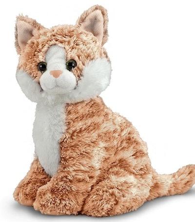 Melissa & Doug Pumpkin Tabby Stuffed Cat