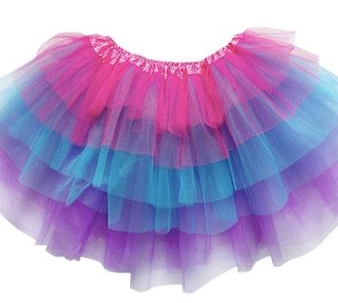 Pink Blue Purple 6 Layer TUTU SKIRT