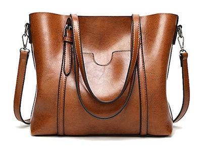 BAISHILIN Soft Leather Tote