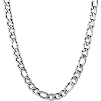 Men's Stainless Steel Figaro Chain Necklace