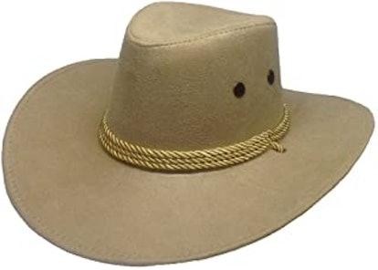 Thuizen Westworld Cowboy Hat Faux Felt Outdoor Trip Wide Brim Hat Microsuede