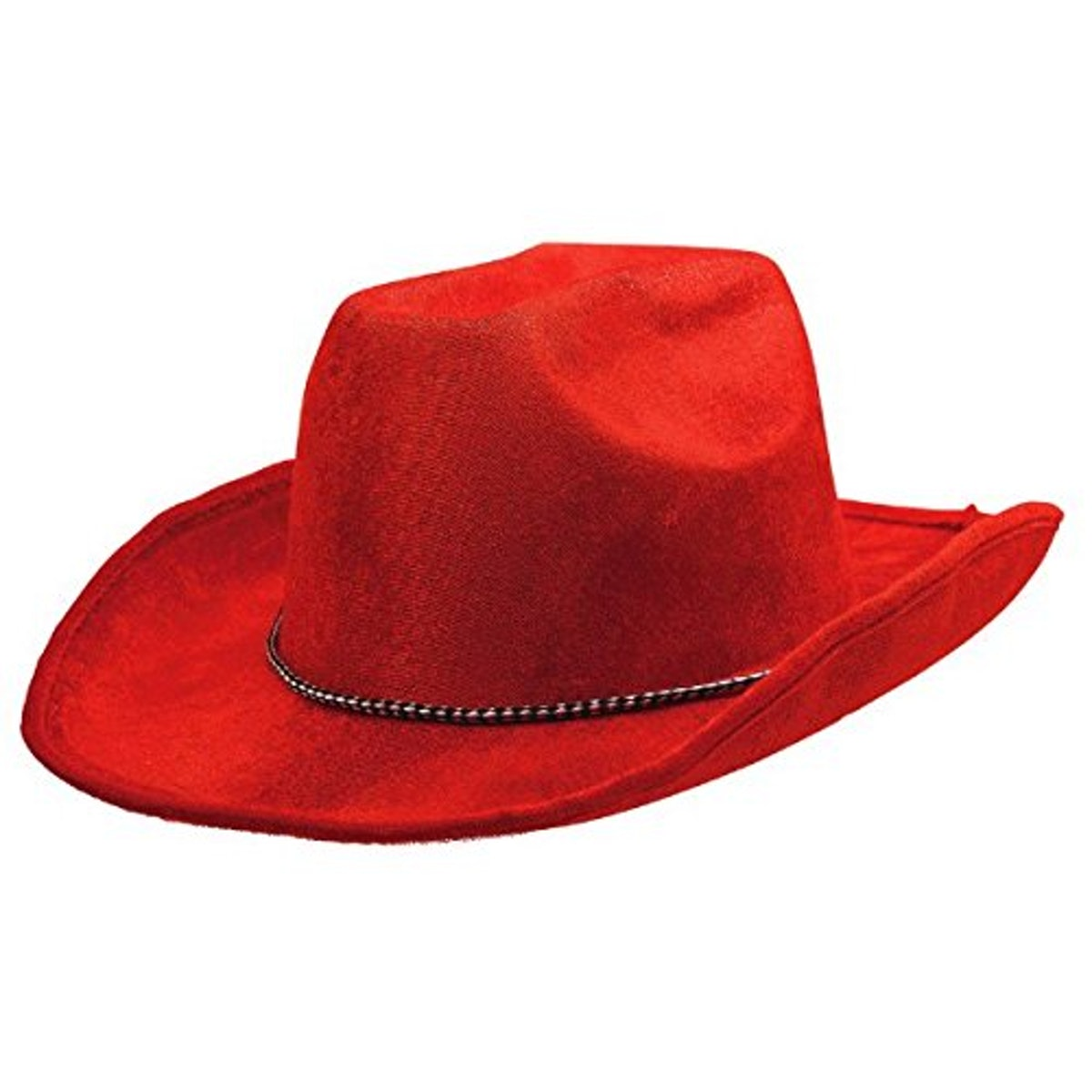 Amscan Velour Cowboy Hat, Party Accessory, Red