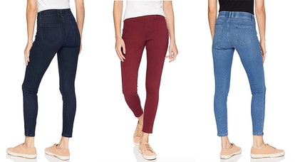 These cult-favorite jeggings come in six colors, including a dark wash denim, a burgundy, and a light wash (picture above).