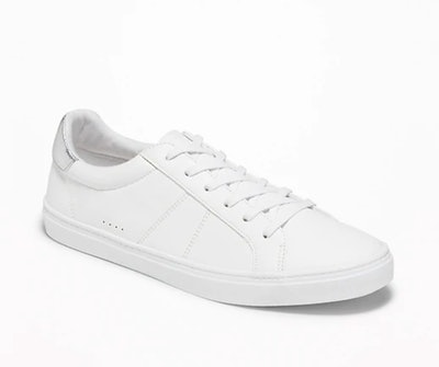 Faux-Leather Sneakers for Women