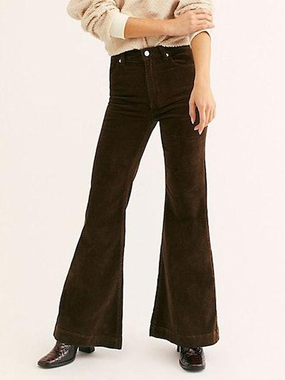 East Coast Wide-Wale Cord Flare Jeans
