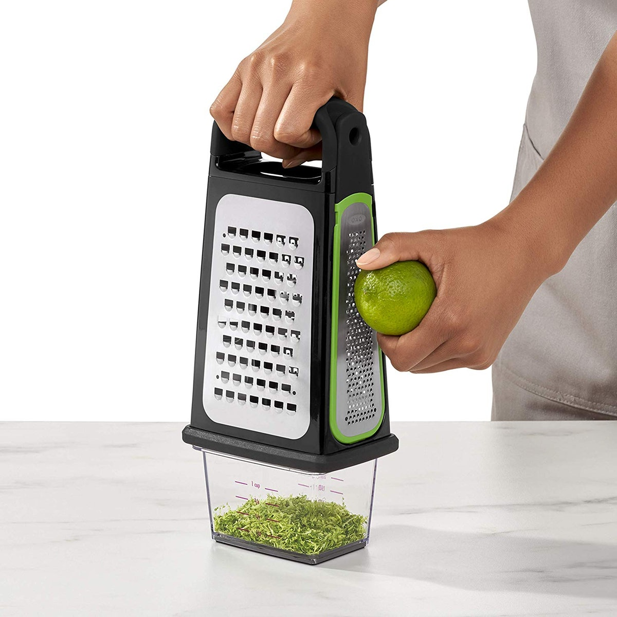 OXO Good Grips Etched Box Grater with Removable Zester
