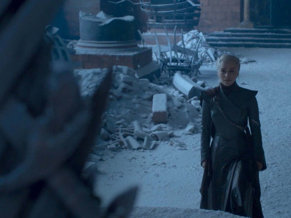 Emilia Clarke as Daenerys Targaryen in Game of Thrones Season 8