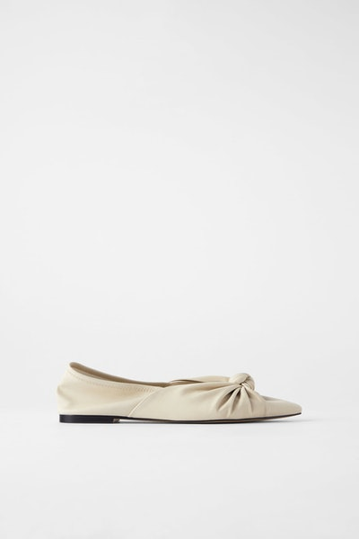 Soft Ballet Flats with Knots