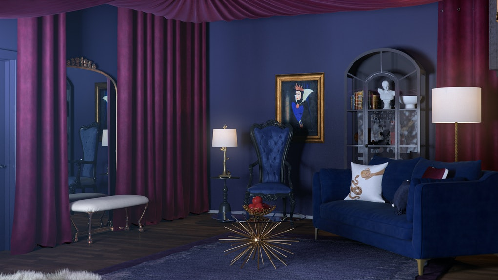 A home decorated like the Evil Queen shows what a Disney villain's home would look like in 2019.