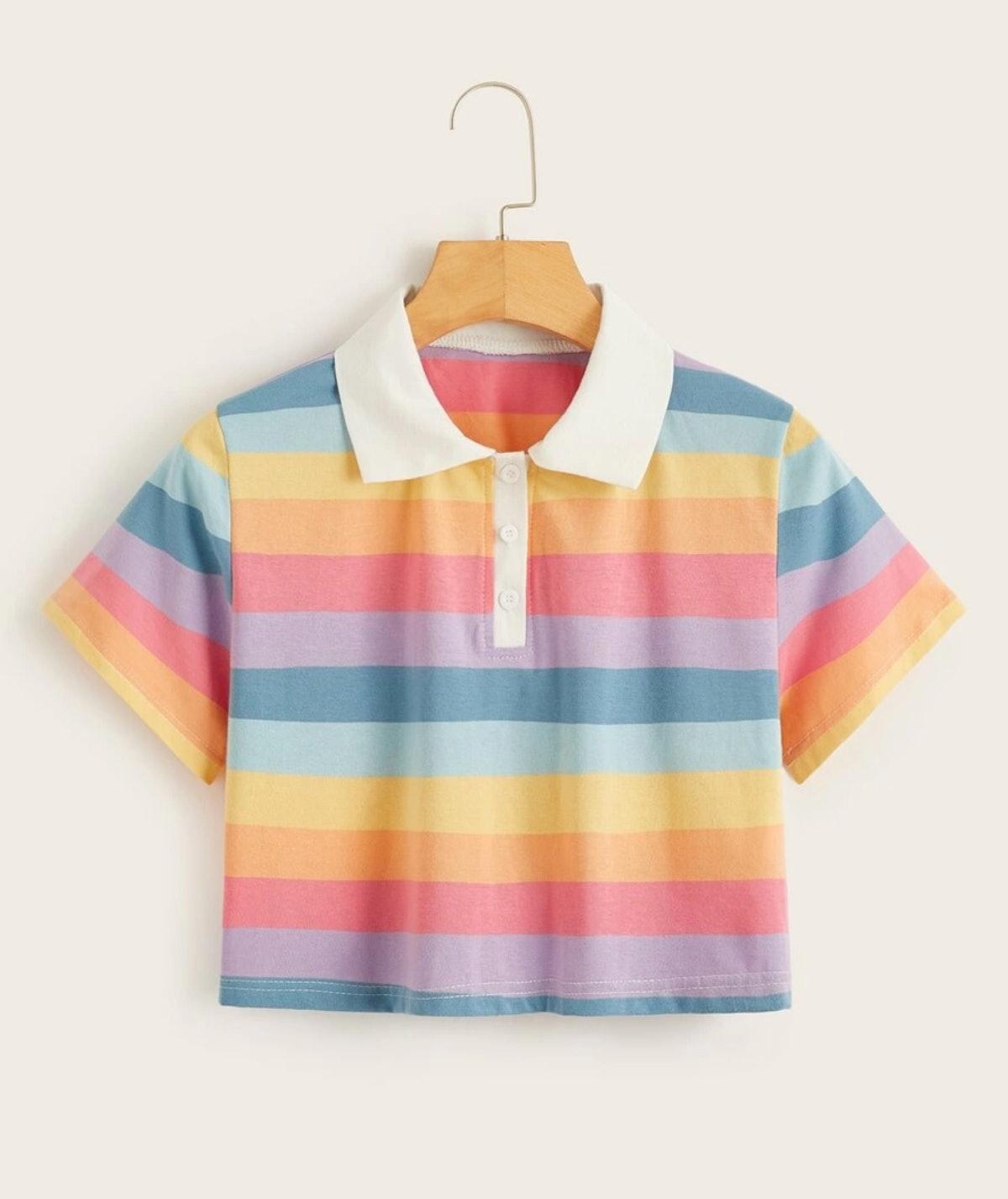 Rainbow Stripe Polo