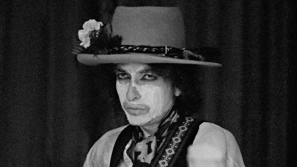 Bob Dylan in 'Rolling Thunder Revue.'