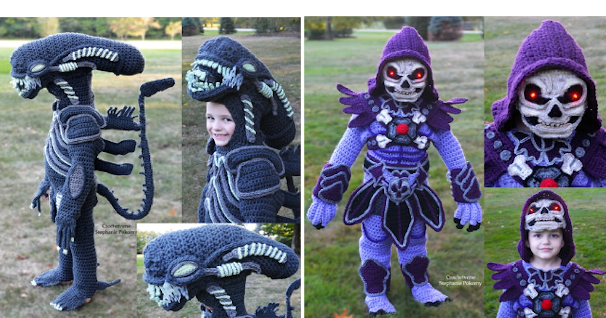 Mom Crochets Halloween Costumes For Sons That Are Out Of This World