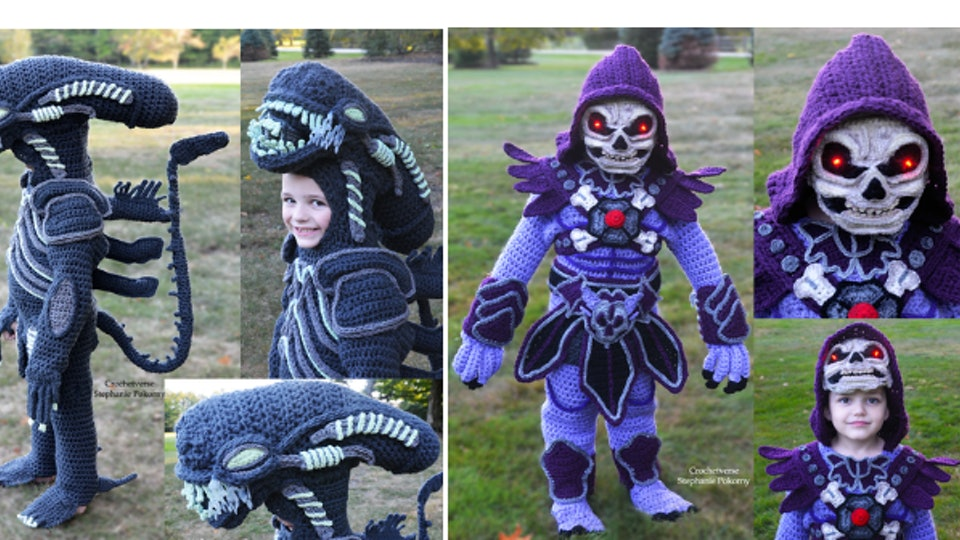 Stephanie Pokorny, an Ohio mom, crochets Halloween costumes for sons that are out of this world.