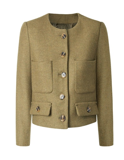 Plastron Pockets Wool Jacket