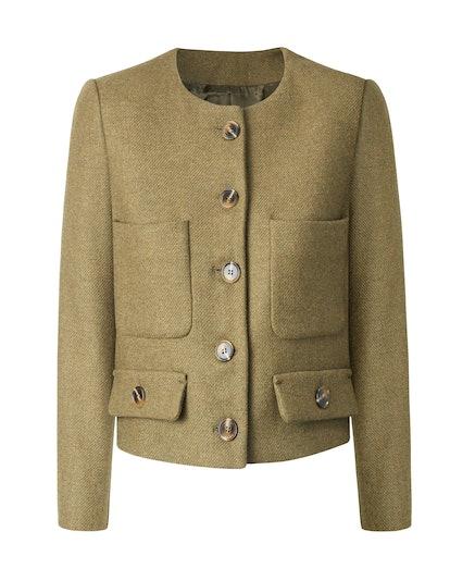 Plastron Pockets Wool Jacket