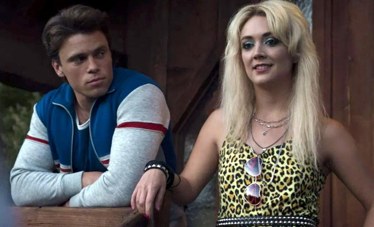 Billie Lourd as Montana and Gus Kenworthy as Chet in 'American Horror Story: 1984' provide great Hal...