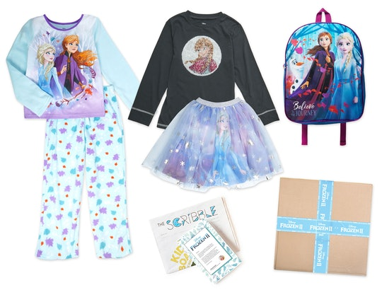 an assortment of Frozen 2 clothing and accessories from KIDBOX limited-edition Disney release.