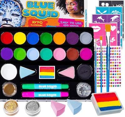 Blue Squid Face Paint Kit For Kids