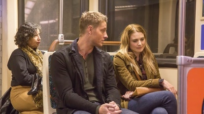 Justin Hartley as Kevin and Alexandra Breckenridge as Sophie on 'This Is Us'