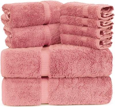 Towel Bazaar Luxury Hotel Quality Towels (Set of 8)