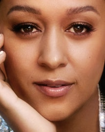 Tia Mowry poses for Romper's Holiday Issue 2019.