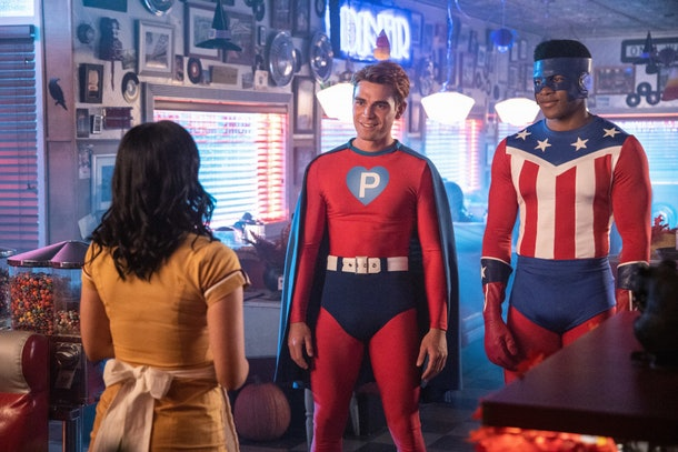 Archie and Mad Dog dress as superheroes for Halloween on 'Riverdale'