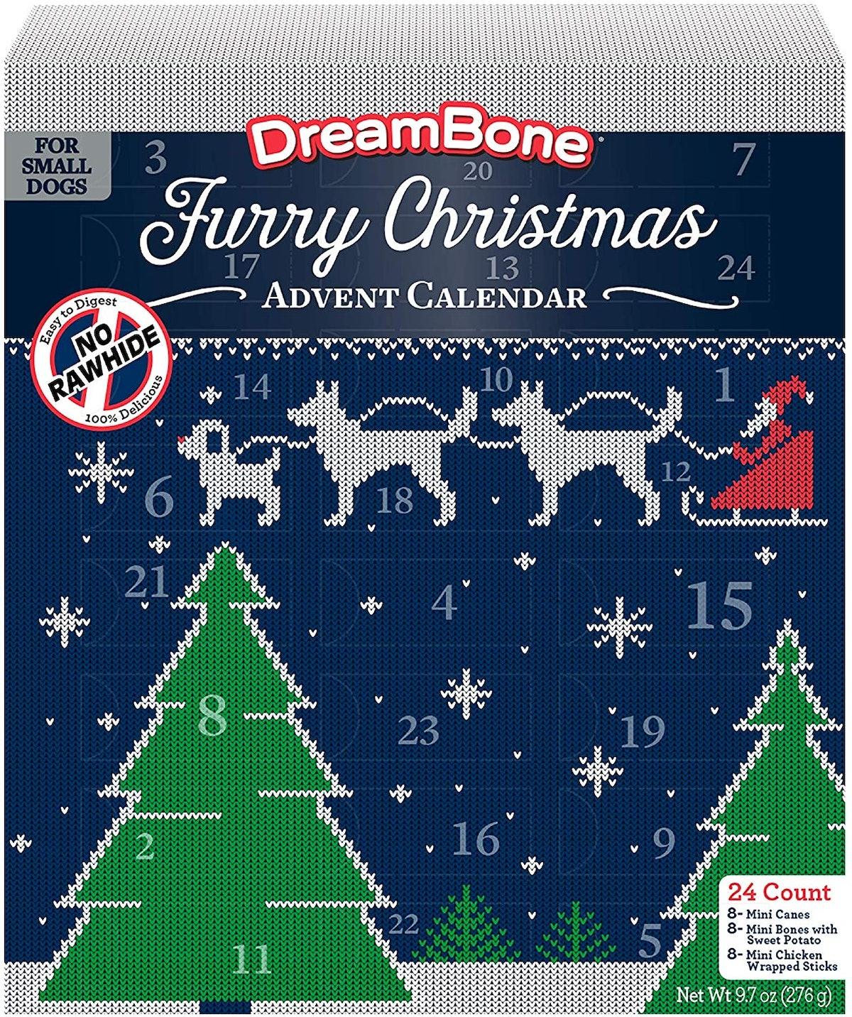DreamBone Rawhide-Free Dog Chews Advent Calendar