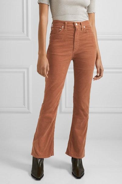 Vintage Cotton-Blend Corduroy Flared Pants