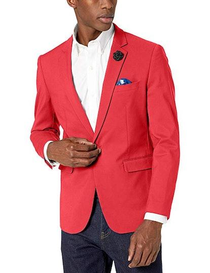 Azaro Uomo Men's Blazer Slim Dress Casual Stretch Suit Sport Jacket Stylish