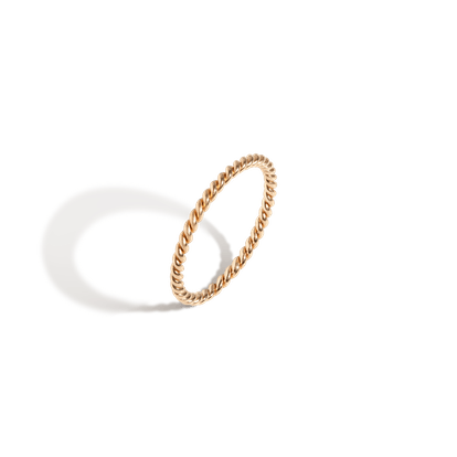 Thick Stackable Twist Ring