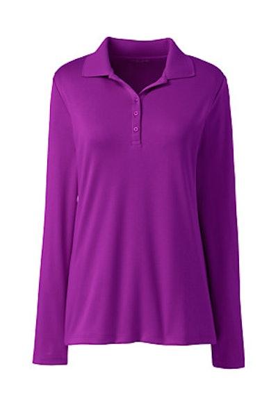 Long Sleeve Supima Cotton Polo Shirt
