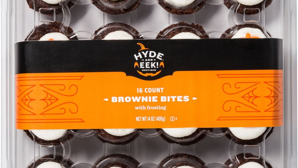a box of Halloween brownie bites from target