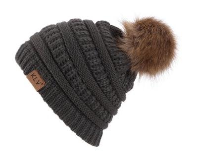 Estink Womens Winter Slouchy Knit Beanie Hat
