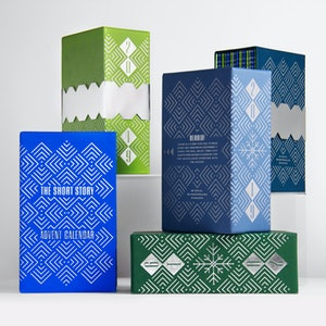 The short story advent calendars are available in five different colors.