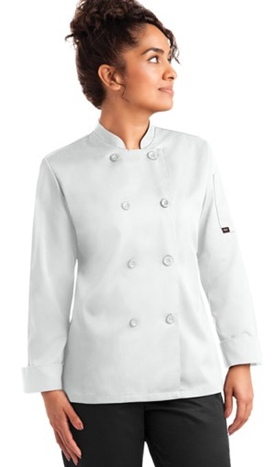 Women's Double Breasted Long Sleeve Value Chef Coat