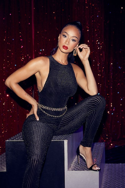 superdown x Draya Welcome to the Party Catsuit in Black