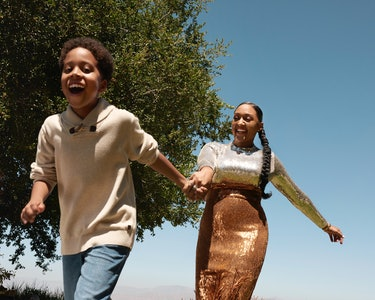 Tia Mowry and her son Cree in Romper's Holiday Issue 2019.