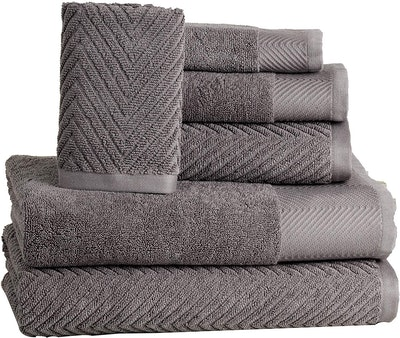 ISABELLA CROMWELL Premium Cotton Bath Towels Set (Set Of 6)