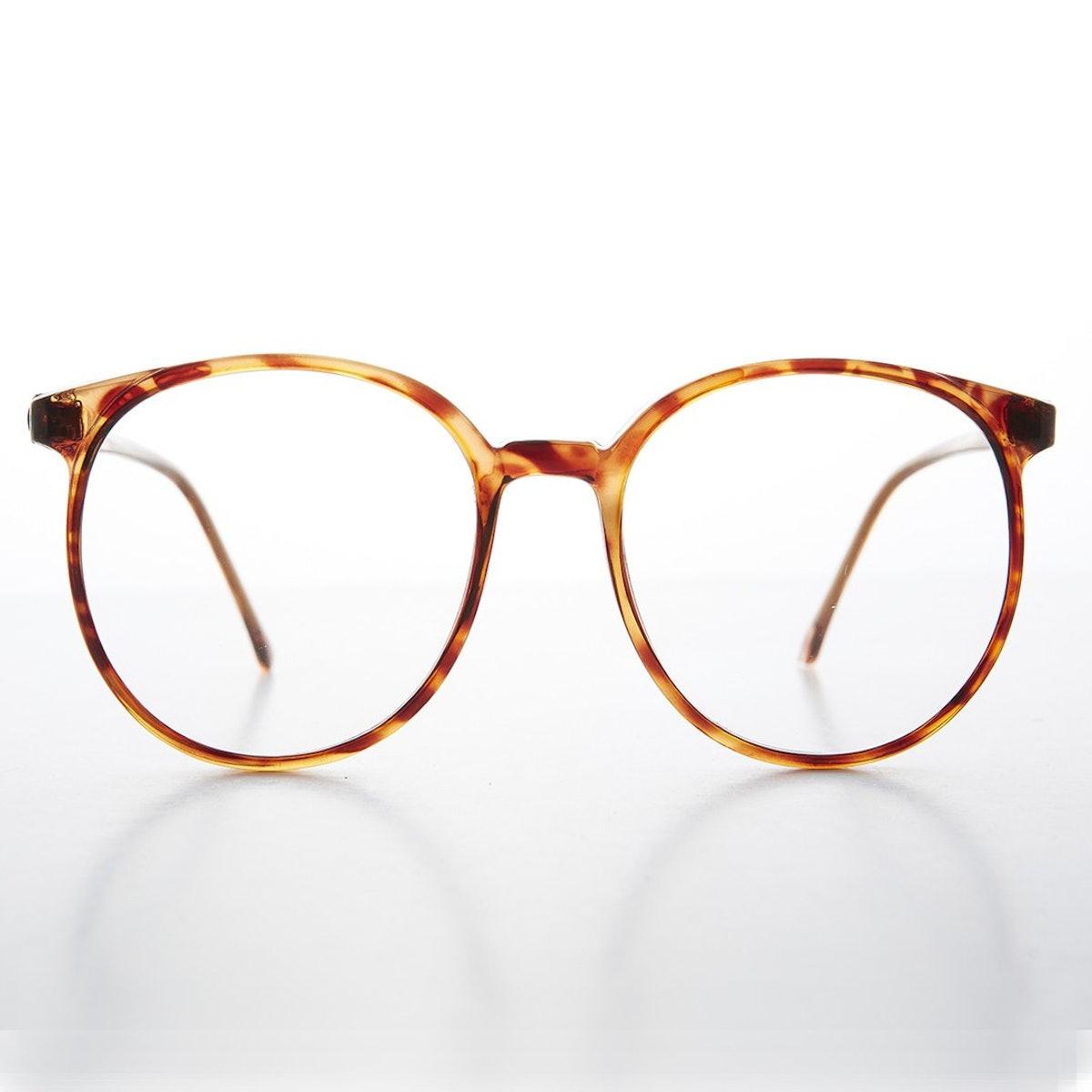Big '80s Secretary Eyeglasses With Clear Lens